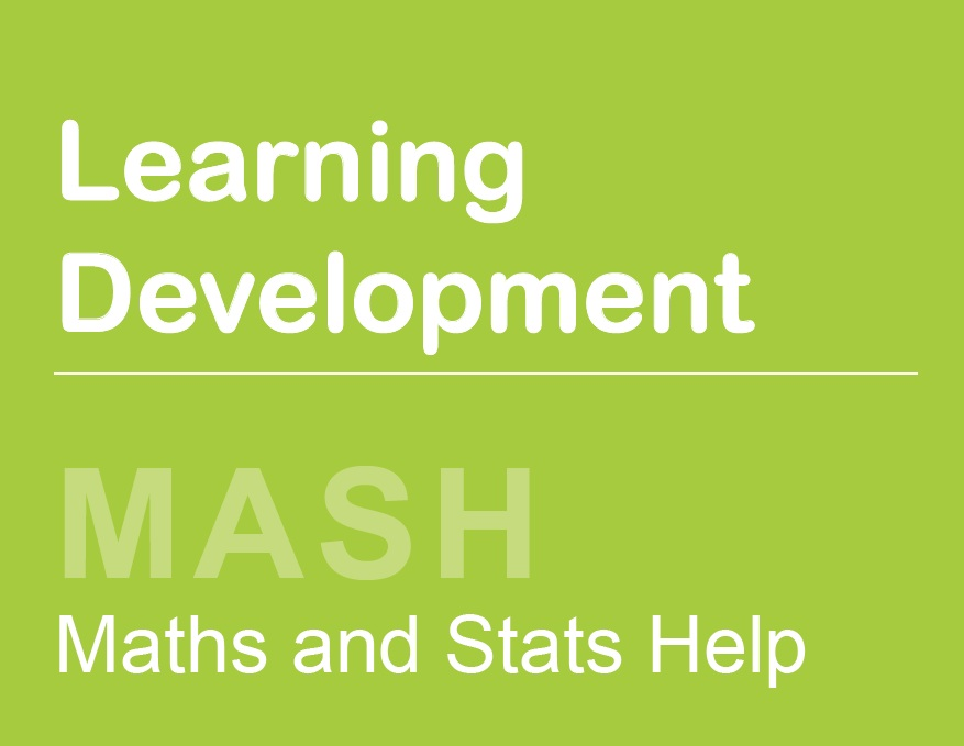 MASH - Maths and Stats Help drop-in
