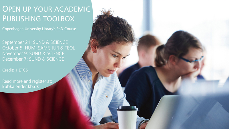 Open up your Academic Publishing Toolbox - a course for PhD students [HUM/SAMF/JUR/TEOL]