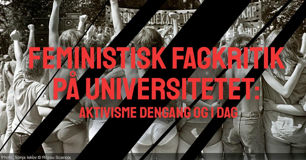 Feministisk fagkritik på universitetet. Aktivisme dengang og i dag