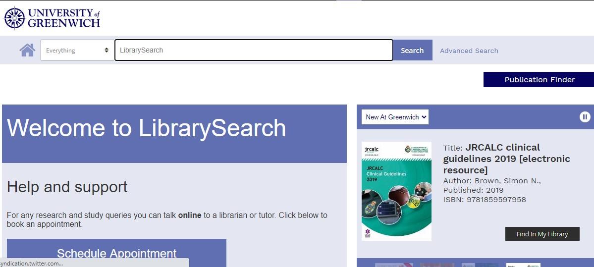 LibrarySearch Essentials