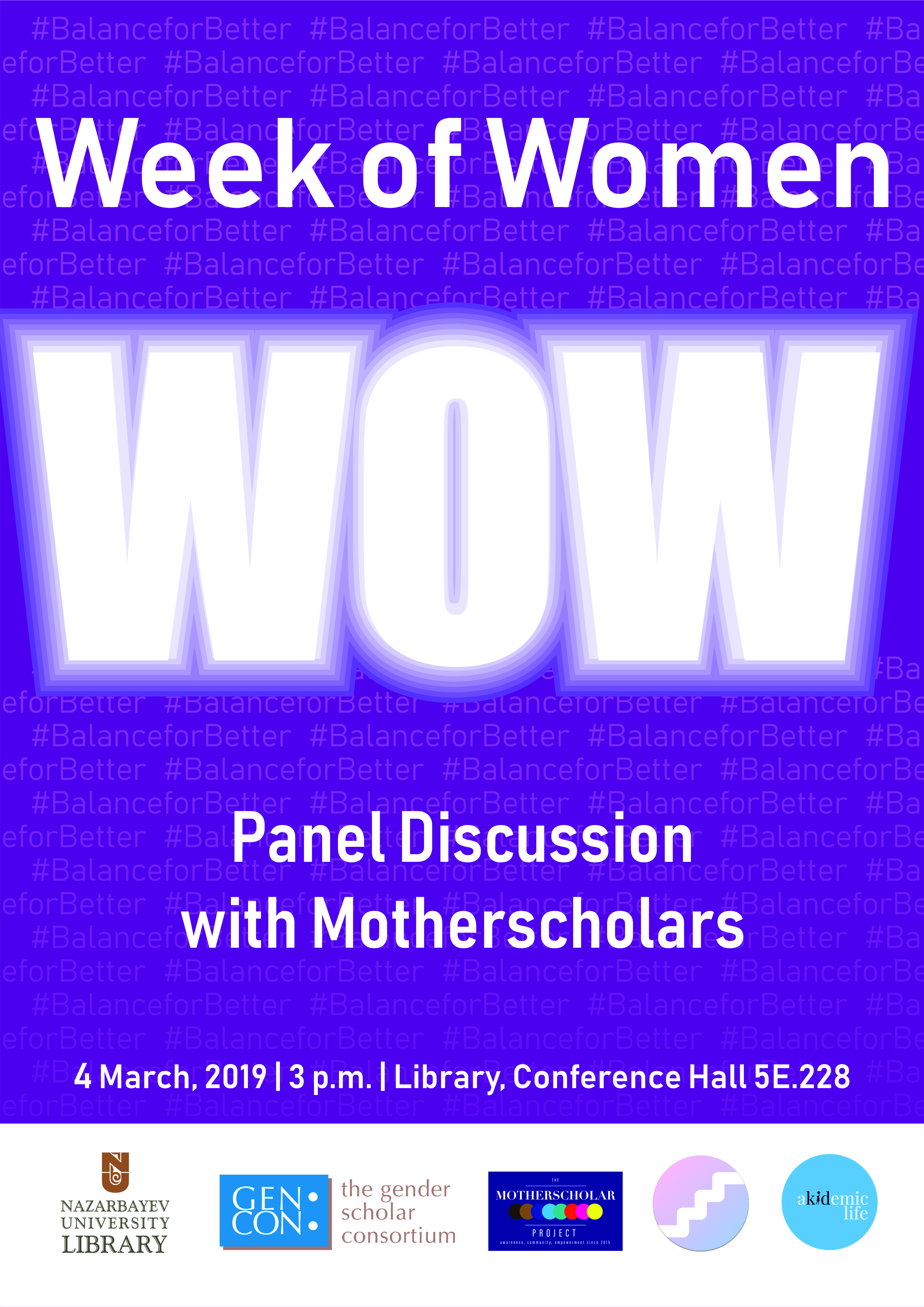 Week of Women at NU Library.  Panel Discussion with Motherscholars