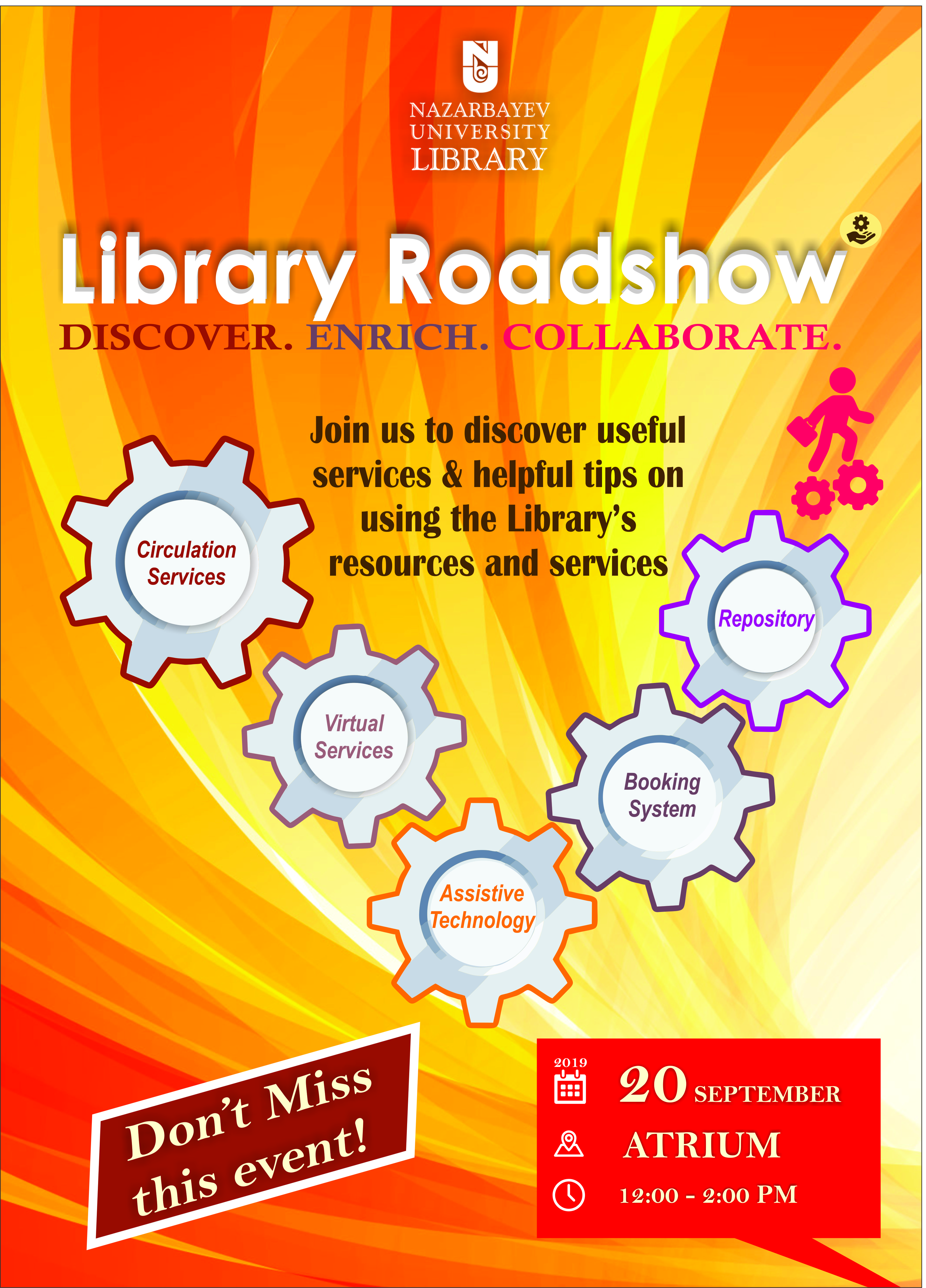 Library Roadshow 2019: Discover. Enrich. Collaborate.