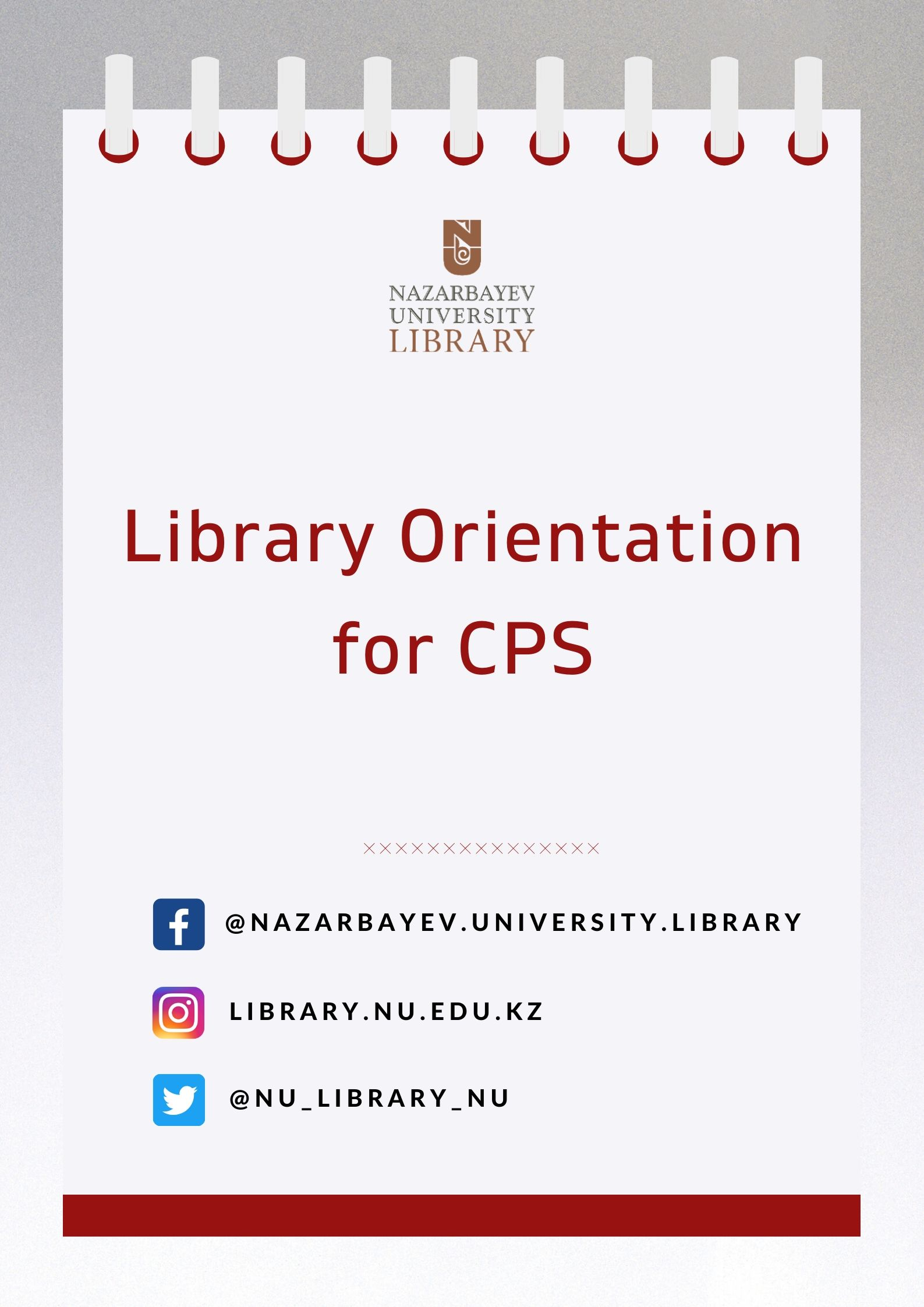 [CPS] Library Orientation for NUZYP