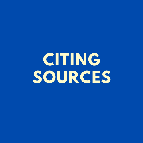 [SSH] Information Literacy: Citing Sources