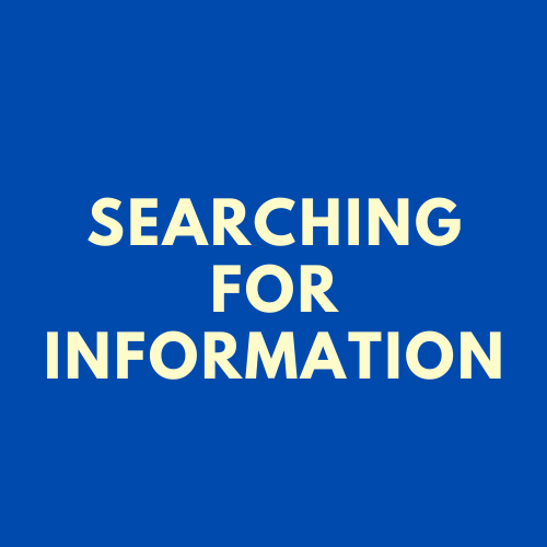 [SSH] Information Literacy: Searching for Information