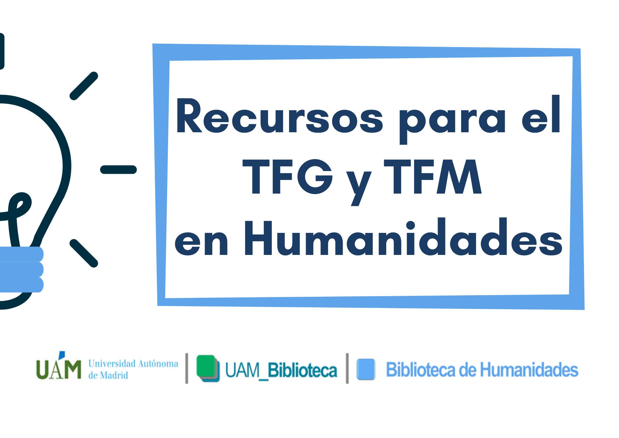 Recursos para el TFG y TFM en Humanidades (en línea)