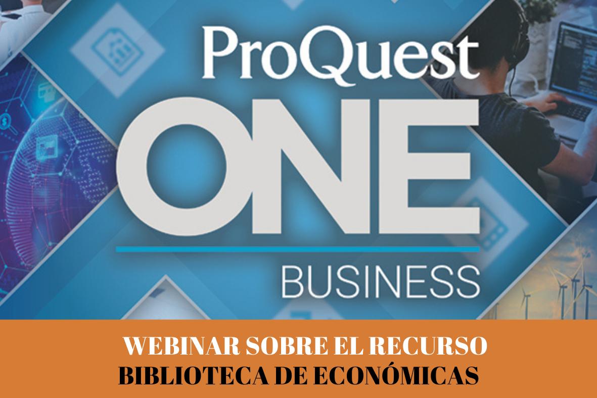 Webinar sobre Proquest One Business