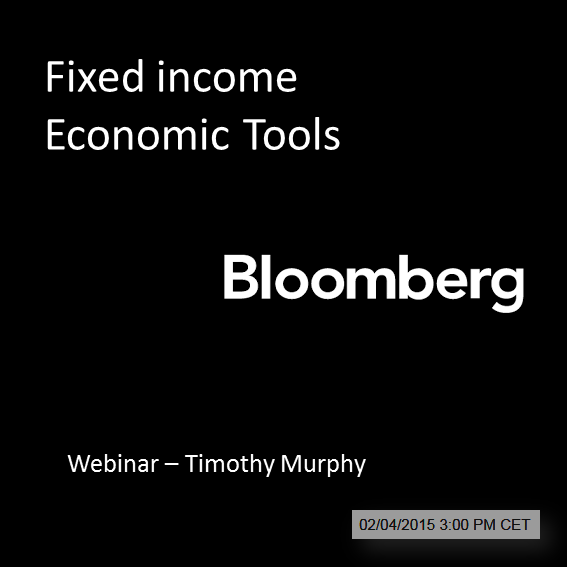 FAKE EVENT: Bloomberg training on Fixed income Economic Tools