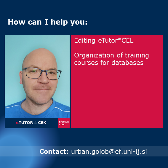 What can be found in eTutor-CEL [CEK outside the Library]