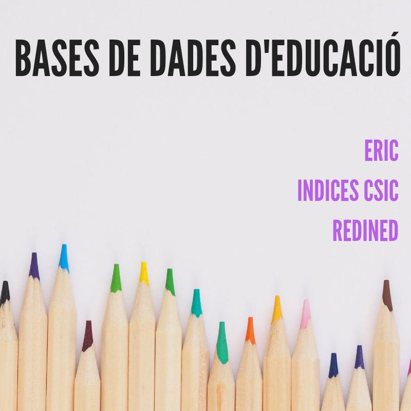 Bases de dades d'Educació