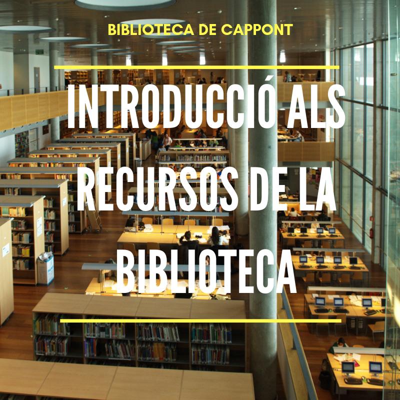 Introducció a l'ús de la biblioteca