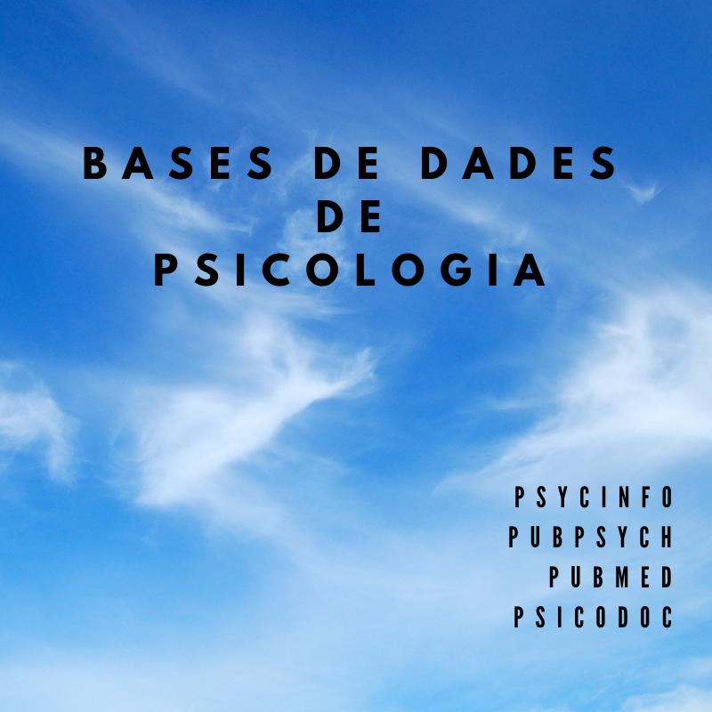 Bases de dades de Psicologia
