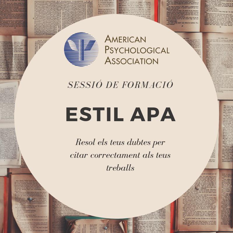 Webinar: Citar amb estil APA, 7a edició