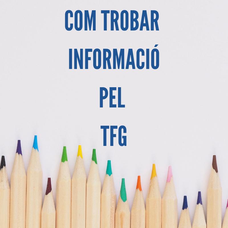 Webinar: Com trobar informació pel TFG