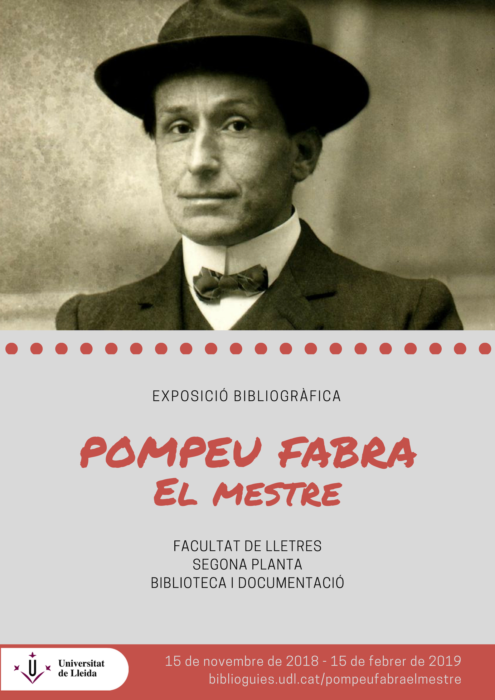 Exposició bibliogràfica Pompeu Fabra, el Mestre