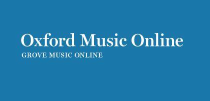 Oxford Music Online/Grove Music Online (sesión on line)
