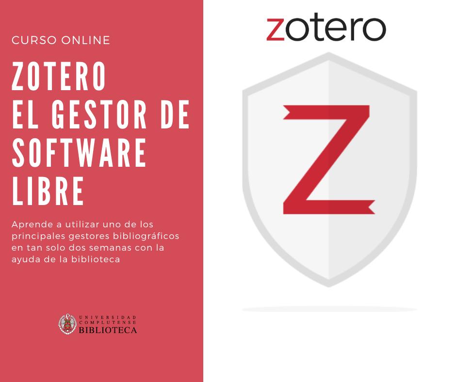 Zotero: el gestor de software libre (Campus Virtual)