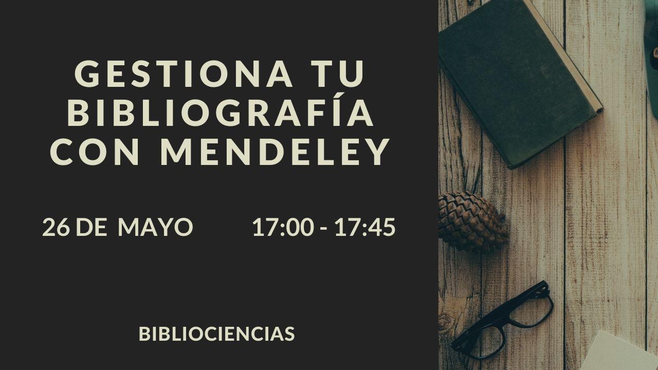 Gestiona tu bibliografía con Mendeley