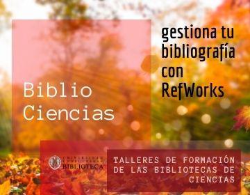 Gestiona tu bibliografía con RefWorks