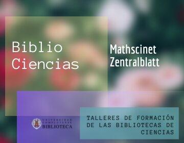 Bases de datos: MathSciNet y ZentralBlatt