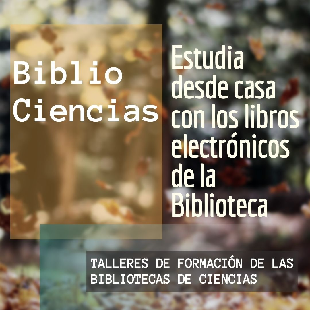 Estudia desde casa con los libros electrónicos de la Biblioteca