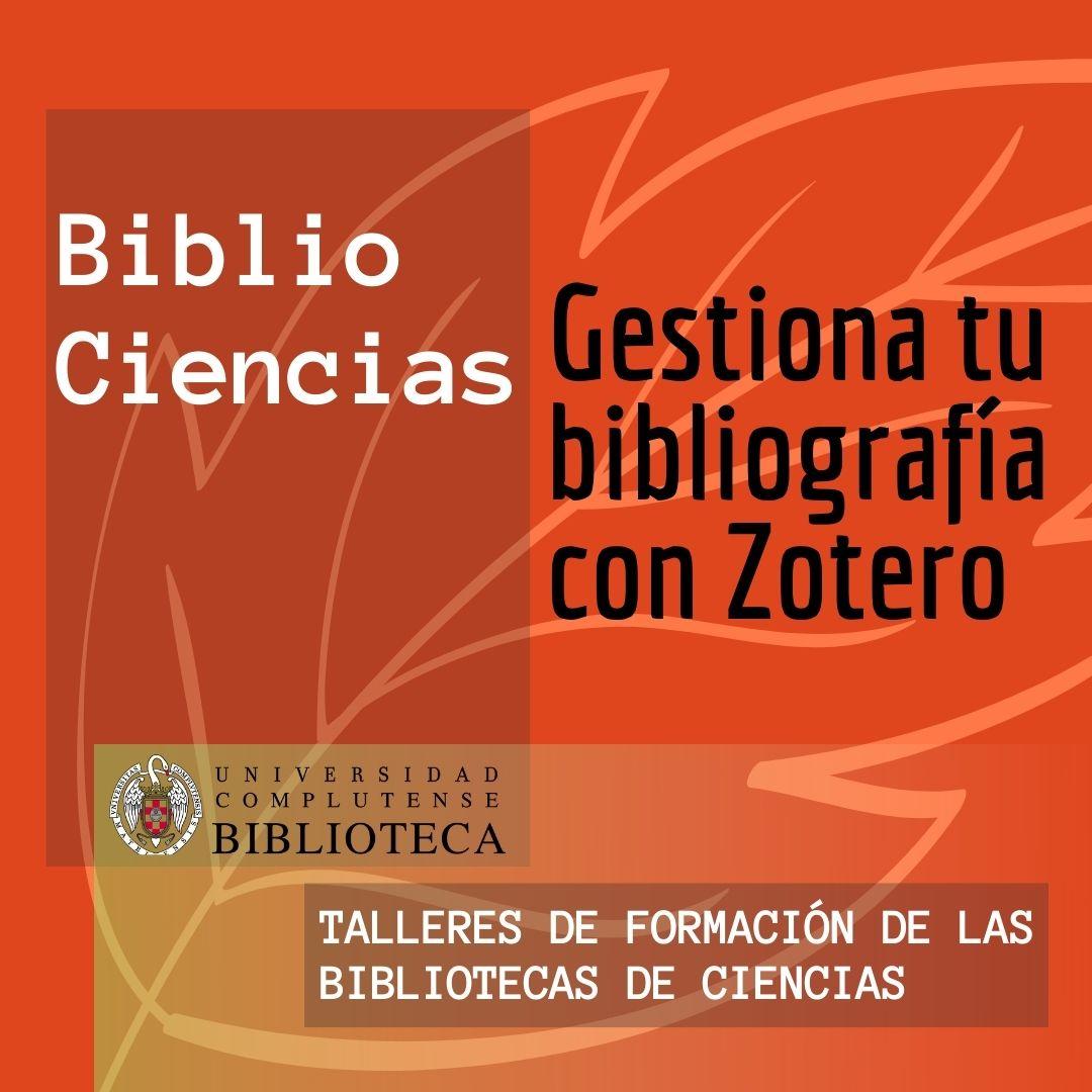 Gestiona tu bibliografía con Zotero