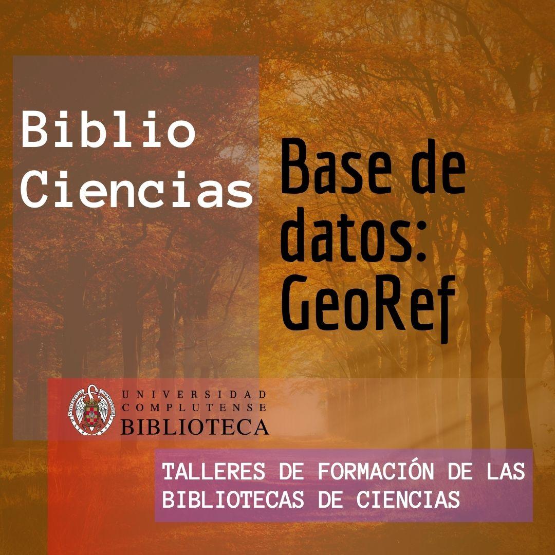 Bases de datos: GeoRef